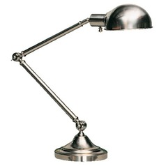 Robert Abbey Kinetic Brushed Chrome Brushed Chrome Pharmacy Lamp with Bowl / Dome Shade