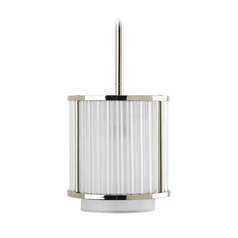 Progress Crystal Mini-Pendant Light with Silver Shade
