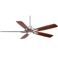52-Inch Minka Aire Dyno Brushed Nickel LED Ceiling Fan with Light