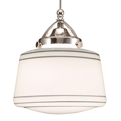 Wac Lighting Early Electric Collection Chrome LED Mini-Pendant with Drum Shade