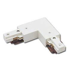 WAC Lighting White J Track 2-Circuit Right L Connector