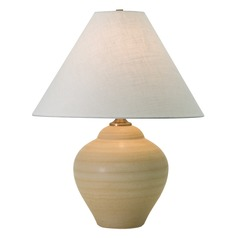 House Of Troy Scatchard Oatmeal Table Lamp with Conical Shade