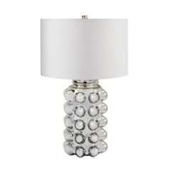 Dimond Lighting Silver Mercury Table Lamp with Drum Shade