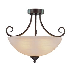Craftmade Raleigh Old Bronze Semi-Flushmount Light
