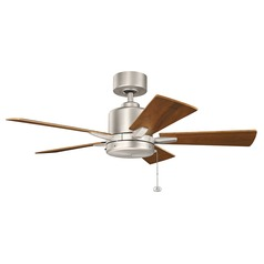 Kichler Lighting Bowen Brushed Nickel Ceiling Fan Without Light