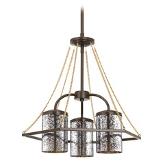 Progress Lighting Indi Antique Bronze Chandelier