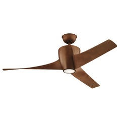 56-Inch 3 Blade LED Ceiling Fan with Light Walnut by Kichler Lighting
