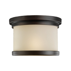 Modern Close To Ceiling Light in Misted Bronze Finish