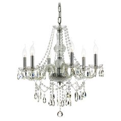 6-Light Crystal Chandelier in Chrome