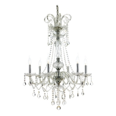 Traditional Crystal Chandelier with Six Lights