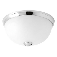 Progress Lighting Modern Flushmount Light with White Glass in Polished Chrome Finish P3997-15WB