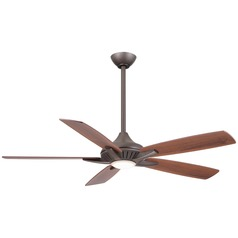 52-Inch Minka Aire Fans Dyno Oil-Rubbed Bronze LED Ceiling Fan with Light