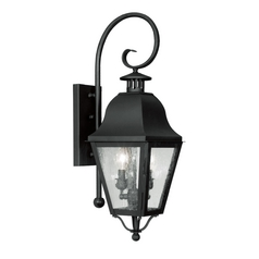 Livex Lighting Amwell Black Outdoor Wall Light