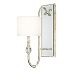 Capital Lighting Charleston Silver and Gold Leaf Sconce