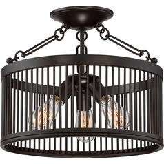 Quoizel Lighting Belgrade Western Bronze Semi-Flushmount Light