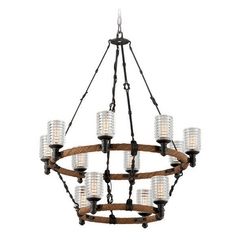 Troy Lighting Embarcadero Shipyard Bronze Chandelier
