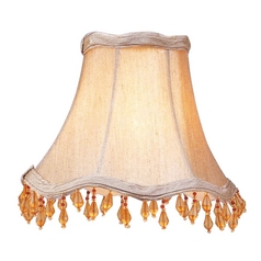 Champagne Scalloped Lamp Shade with Clip-On Assembly