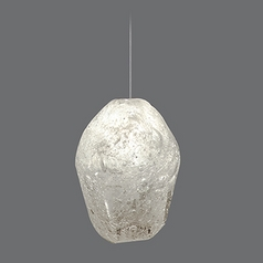 Fine Art Lamps Natural Inspirations Gold-Toned Silver Leaf Mini-Pendant Light