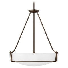 Hinkley Lighting Hathaway Olde Bronze LED Pendant Light with Bowl / Dome Shade