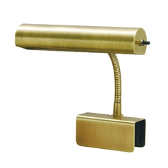Modern Clamp Desk Lamp in Antique Brass Finish