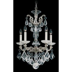 Crystal Chandelier in Antique Silver Finish