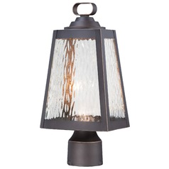Minka Lighting Talera Oil Rubbed Bronze with Gold LED Post Light