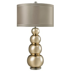 Dimond Lighting Gold Mercury, Polished Chrome Table Lamp with Drum Shade