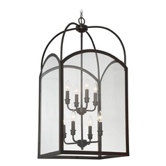 Savoy House Lighting Garrett English Bronze Pendant Light with Square Shade