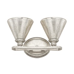 Mercury Glass Bathroom Light Silver Capital Lighting