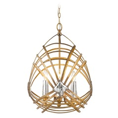 Signet 4 Light Pendant in Royal Gold
