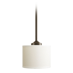 Progress Mini-Pendant Light with Beige / Cream Shade