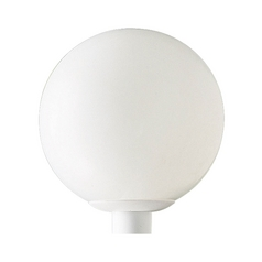 Mid-Century Modern Post Light White Acrylic Globe by Progress Lighting
