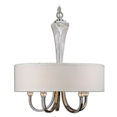 Uttermost Grancona 5 Light Drum Shade Chandelier