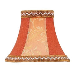 Mauve Floral Bell Lamp Shade with Clip-On Assembly