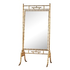 Dimond Home Brunei Antique Gold 70-Inch Metal and Glass Standing Mirror