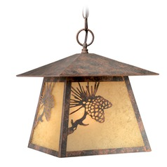 Whitebark Olde World Patina Outdoor Hanging Light by Vaxcel Lighting