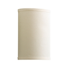 Progress Sconce Wall Light with Beige / Cream Shade in White Finish