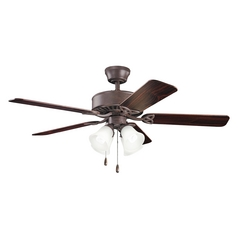 Kichler Lighting Renew Premier Tannery Bronze Ceiling Fan with Light
