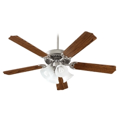 Quorum Lighting Capri V Satin Nickel Ceiling Fan with Light