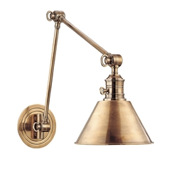 Swing Arm Lamp in Aged Brass Finish