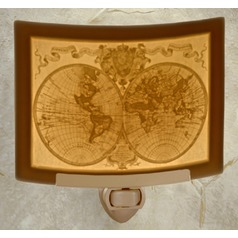 Porcelain Garden Lighting Old World Map Night Light