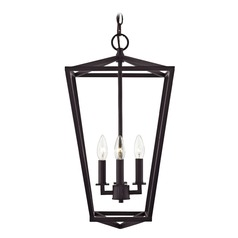 Lantern Pendant Light 4-Lt 23-Inch Tall Bronze
