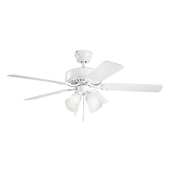Kichler Lighting Renew Premier White Ceiling Fan with Light
