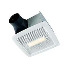 Nutone White Enamel LED Exhaust Fan with Light
