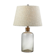Table Lamp with Clear Glass