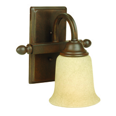 Jeremiah Madison Aged Bronze Textured Sconce