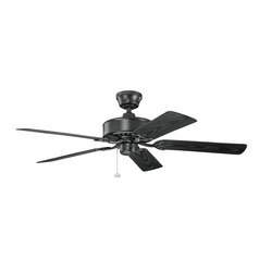 Kichler Lighting Renew Patio Satin Black Ceiling Fan Without Light