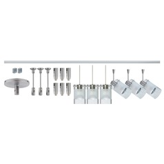 Besa Lighting Scope Frosted Glass Satin Nickel LED Rail Kit