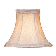 Champagne Bell Lamp Shade with Clip-On Assembly