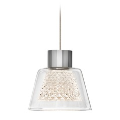 Elan Lighting Ausa Chrome LED Mini-Pendant Light with Bell Shade